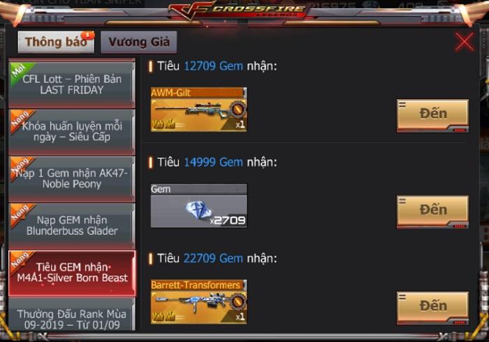 Game thủ CrossFire Legends có cơ hội thu thập mảnh ghép nhận vũ khí VIP miễn phí 7