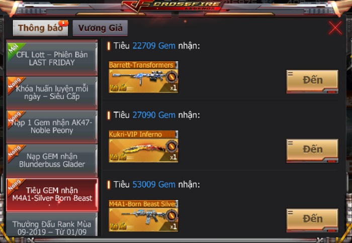 Game thủ CrossFire Legends có cơ hội thu thập mảnh ghép nhận vũ khí VIP miễn phí 8