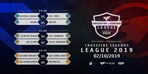 Giải đấu nghiệp dư CrossFire Legends League 2019 công bố lịch thi đấu với 20 đội tuyển tham dự