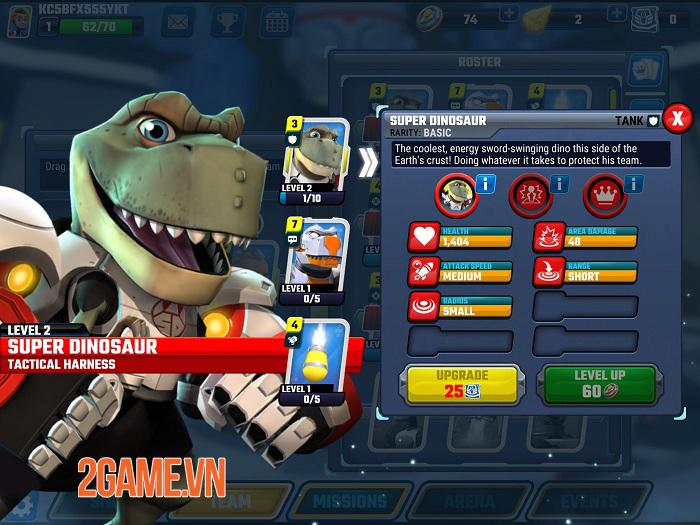 Super Dinosaur: Kickin' Tail - Game chiến thuật thẻ bài đồ hoạ hoạt hình thú vị 1