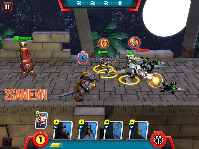 Super Dinosaur: Kickin' Tail - Game chiến thuật thẻ bài đồ hoạ hoạt hình thú vị 3