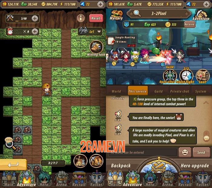 Adventure Legion - Game Idle RPG đồ hoạ 2D hoạt hình phong cách pixel 1