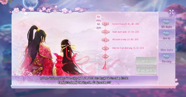 Tình Kiếm 3D cho phép người chơi tổ chức đám cưới vô cùng rình rang 3