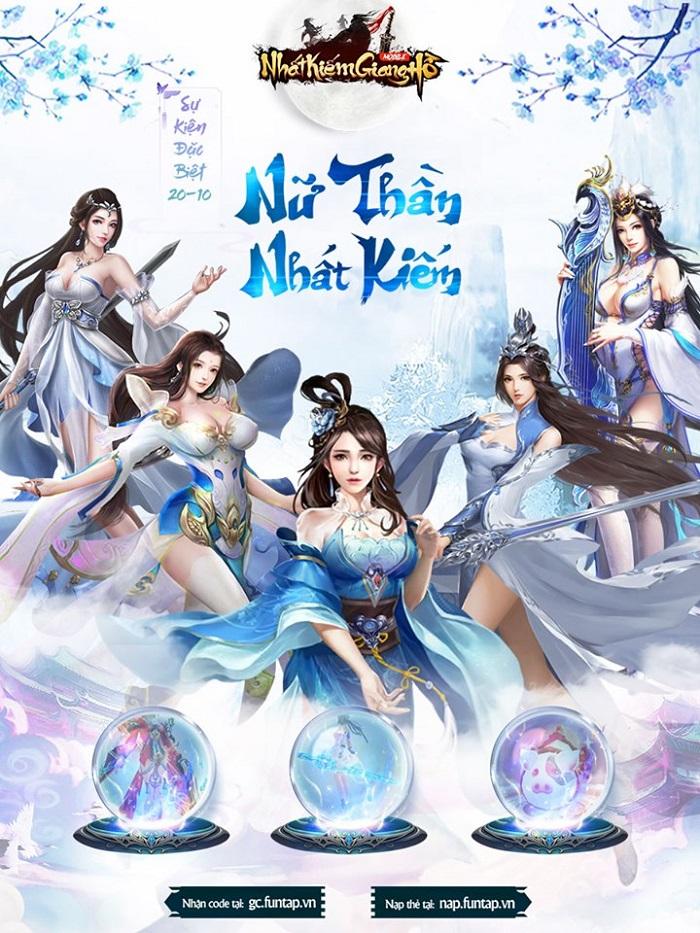 Nhất Kiếm Giang Hồ bùng nổ sự kiện tôn vinh Nữ thần Nhất Kiếm cho phái đẹp 0