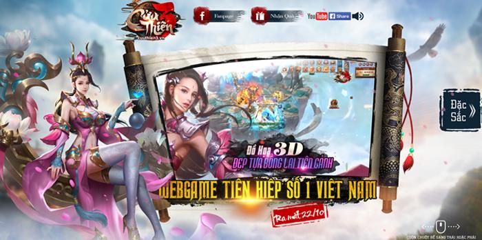 Webgame nhập vai viễn tưởng Cửu Thiên 3 mở cửa 0