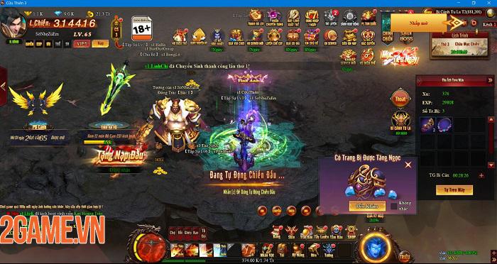 Cửu Thiên 3 cho thấy chất lượng vượt trội so với tiêu chuẩn của webgame 1