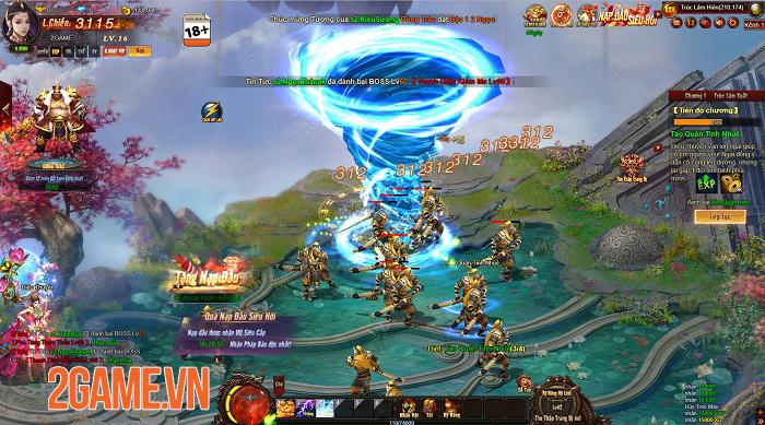 Cửu Thiên 3 cho thấy chất lượng vượt trội so với tiêu chuẩn của webgame 4