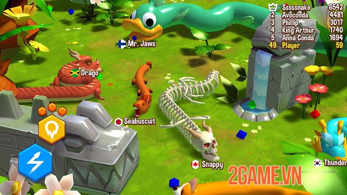 Snake Rivals - Game rắn ăn mồi kết hợp sinh tồn có nhiều chế độ chơi thú vị 3