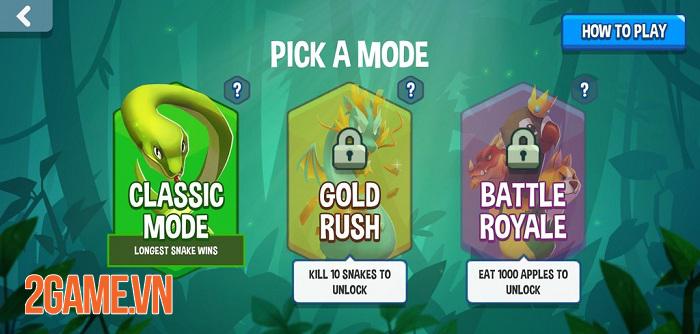Snake Rivals - Game rắn ăn mồi kết hợp sinh tồn có nhiều chế độ chơi thú vị 2