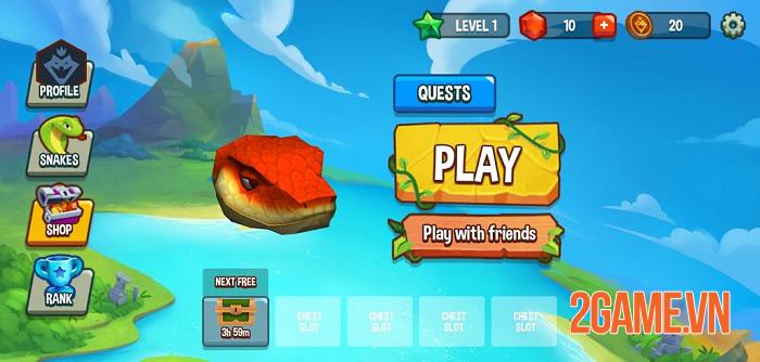 Snake Rivals - Game rắn ăn mồi kết hợp sinh tồn có nhiều chế độ chơi thú vị 0