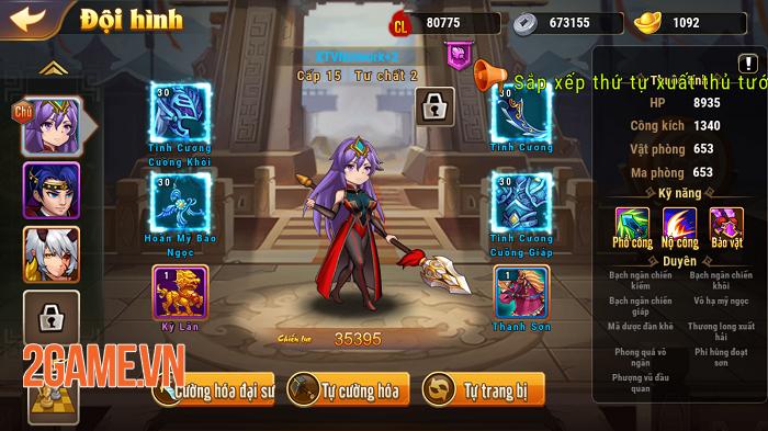 Chúa Công Chạy Mau Mobile sở hữu gameplay đậm màu sắc game thẻ tướng 1