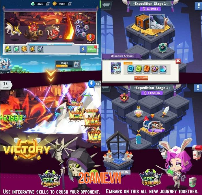 Epic summoners 2 mang đến những trải nghiệm hoàn toàn mới so với bản trước 1