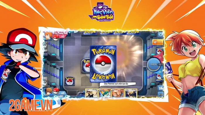 Game đấu bài Pokemon Học Viện Bảo Bối