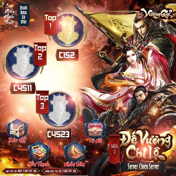 Lộ diện Quân Vương mới của game Tam Quốc Vương Giả sau giải đấu mùa 2 1