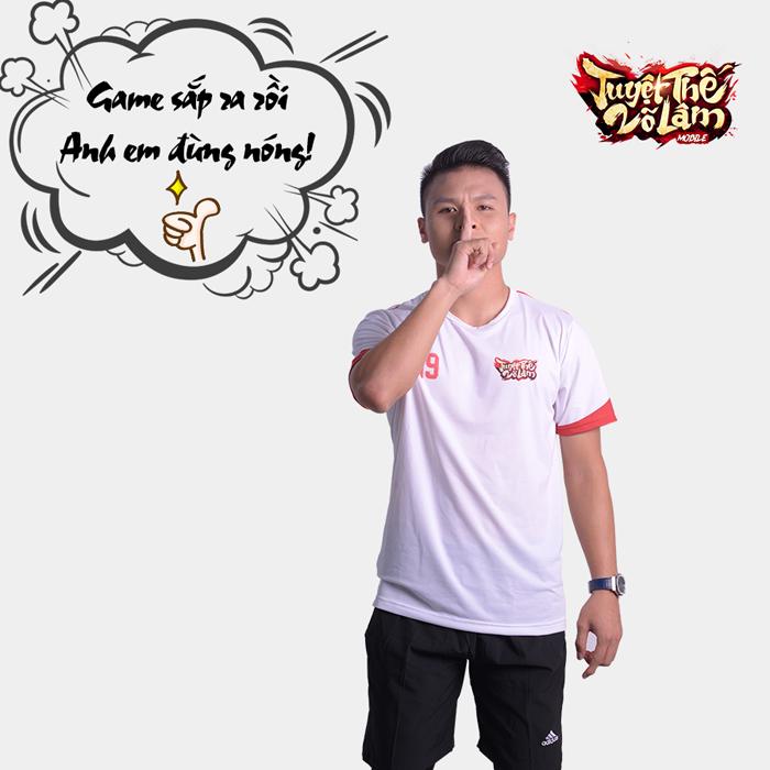Cầu thủ Quang Hải quảng cáo cho game Tuyệt Thế Võ Lâm Funtap 1
