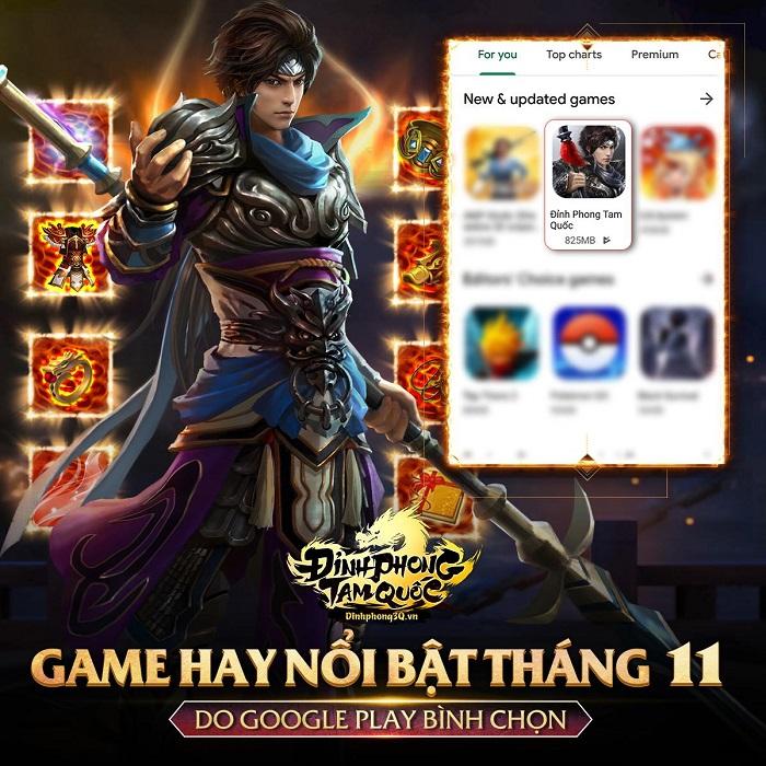 Đỉnh Phong Tam Quốc xứng đáng với vị trí game nổi bật do Google Play bình chọn 0