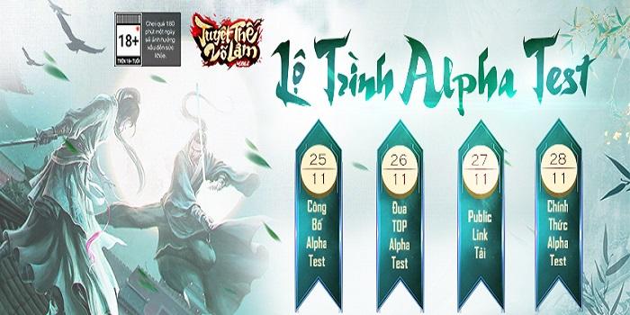 Kiệt tác kiếm hiệp Kim Dung - Tuyệt Thế Võ Lâm Mobile công bố lộ trình Alpha Test 1