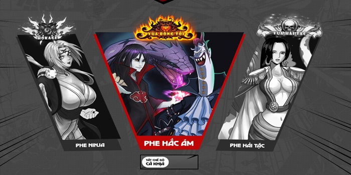 Game thẻ tướng manga Nhẫn Giả Haki mang nội dung cải biên cực