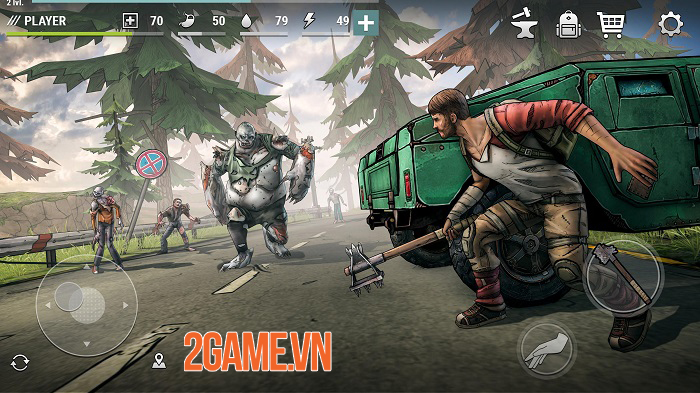 Dark Days: Zombie Survival có lối chơi như Last Day on Earth nhưng đồ hoạ 3D mới lạ 0