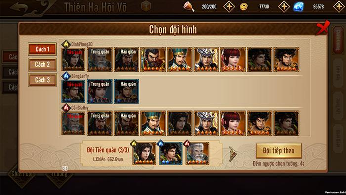 Đỉnh Phong Tam Quốc trình làng giải đấu Thiên Hạ Hội Võ quy mô liên server 3