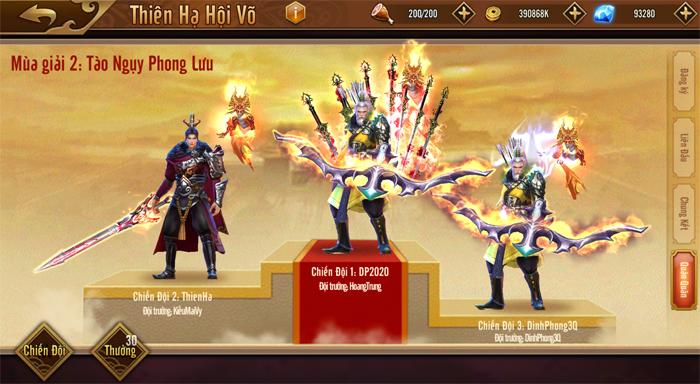 Đỉnh Phong Tam Quốc trình làng giải đấu Thiên Hạ Hội Võ quy mô liên server 7