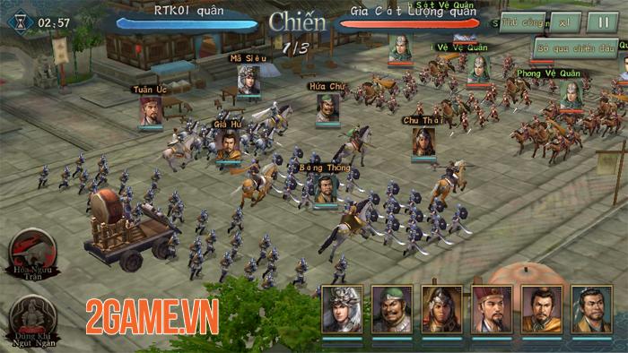 Tân Tam Quốc Chí Mobile cho tất cả người chơi trong cùng server tham chiến tại một Map lớn 9