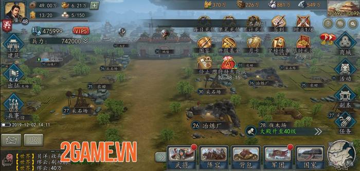 Tân Tam Quốc Chí Mobile cho tất cả người chơi trong cùng server tham chiến tại một Map lớn 2