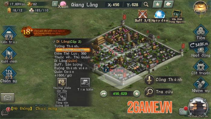 Tân Tam Quốc Chí Mobile cho tất cả người chơi trong cùng server tham chiến tại một Map lớn 7