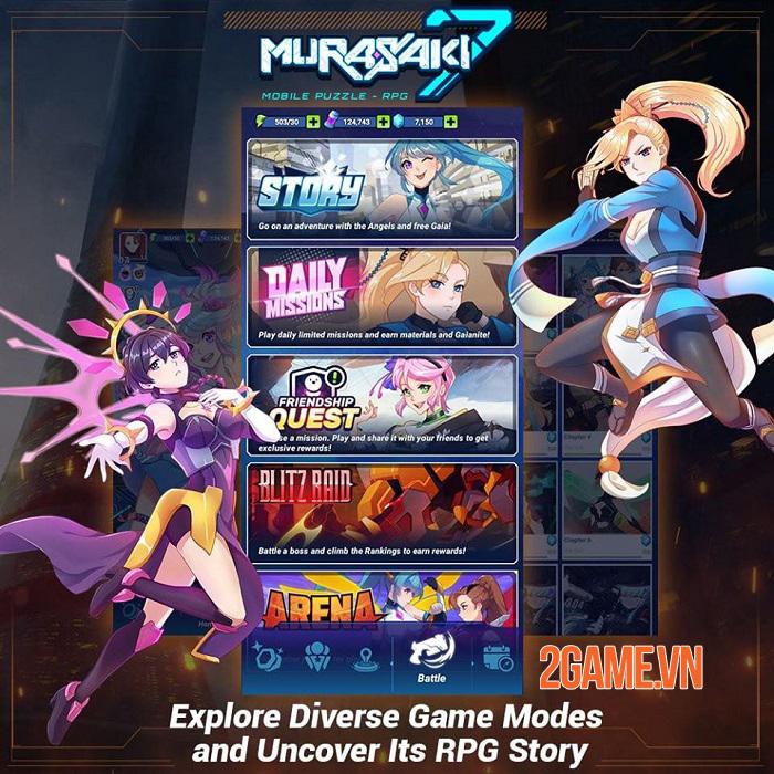 Murasaki 7 - Game puzzle RPG có cốt truyện anime độc đáo với 200 cấp độ 1