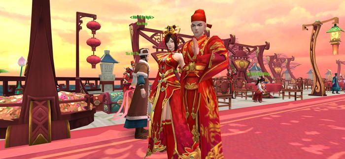 Lạc vào lễ đường đẹp như mơ của một cặp đôi game thủ Thái Cực 3D Mobile 1