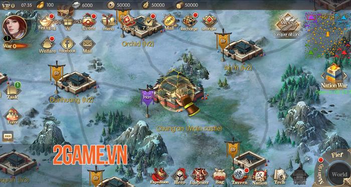 Game chiến thuật hay ho Vương Triều Tranh Bá Mobile cập bến Việt Nam 1
