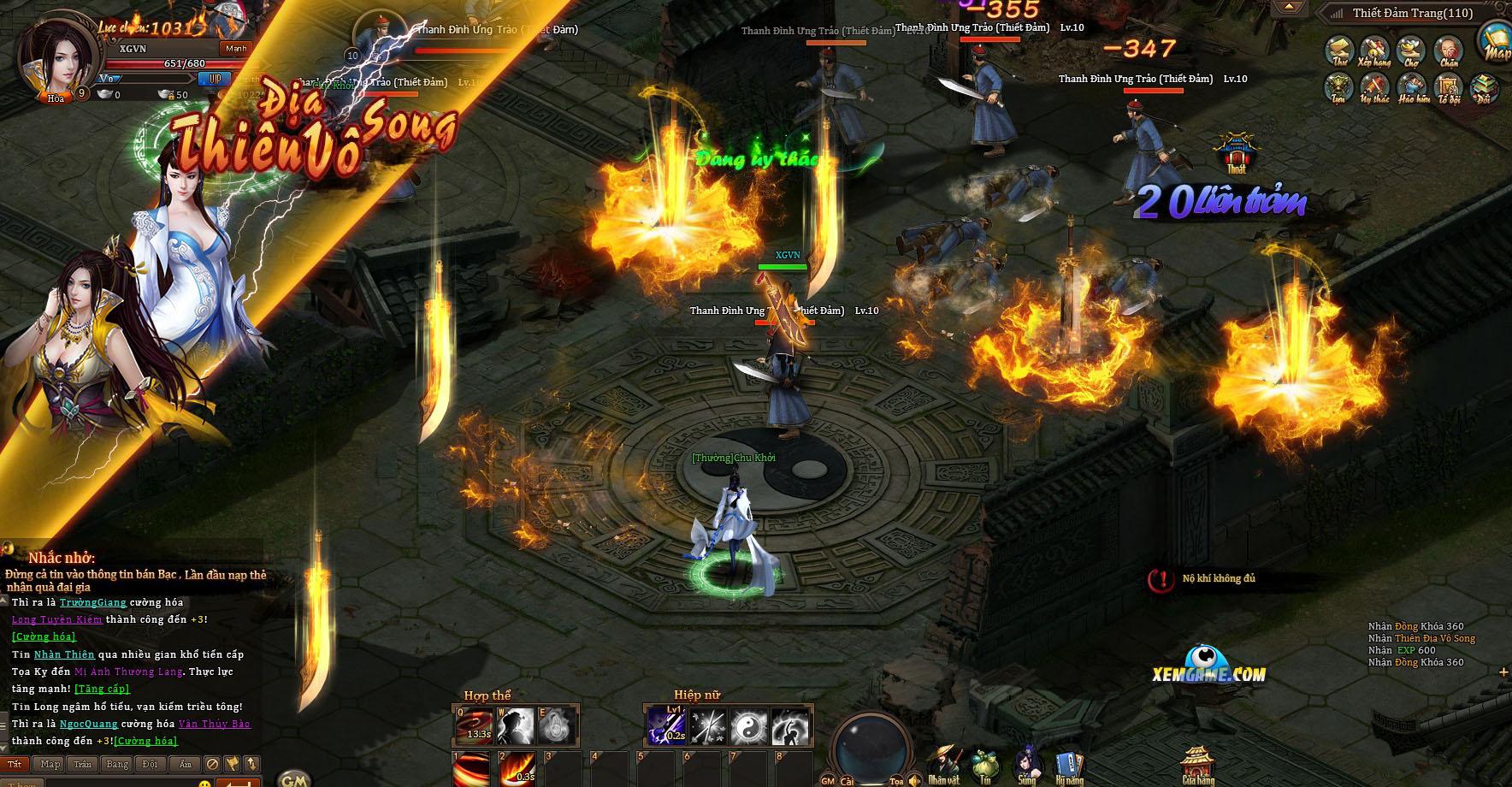 Ngạo Kiếm Kỳ Thư khiến người chơi được sống lại thời đam mê võ hiệp 3