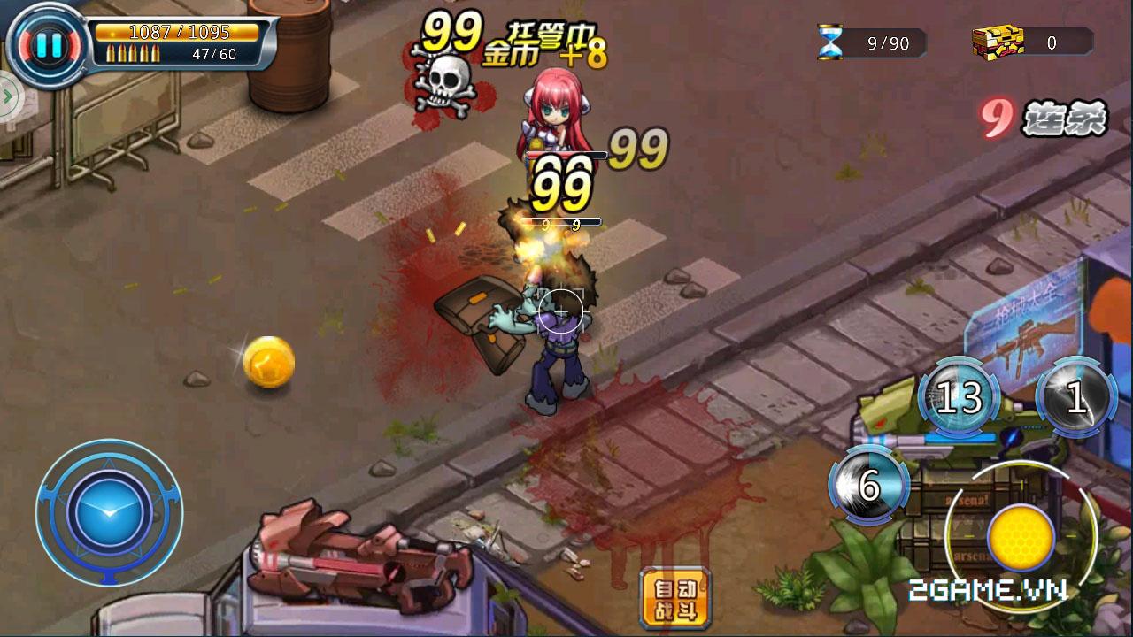 Chơi Zombie War thấy ghê ghê song vui cũng không kém 9