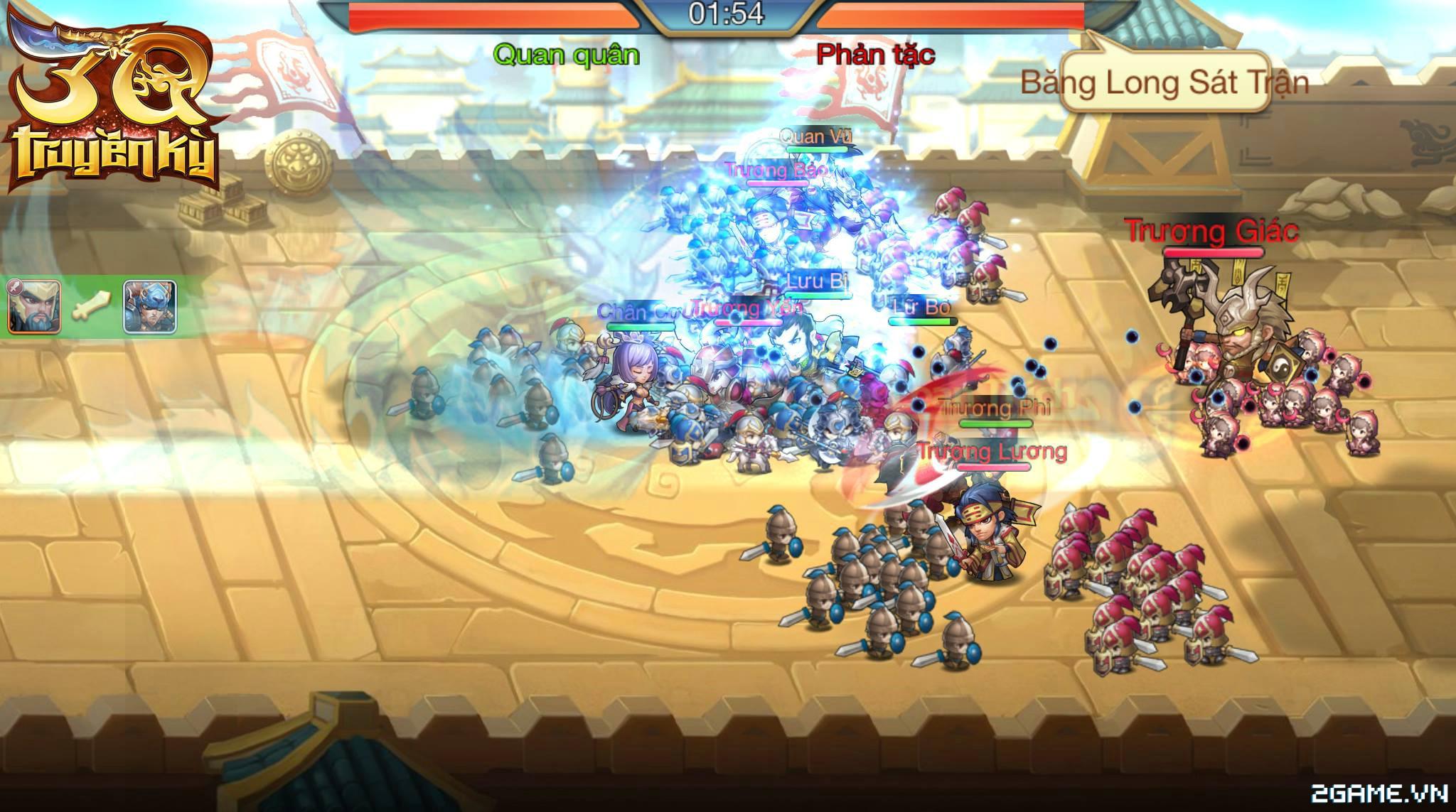 3Q Truyền Kỳ có thế mạnh nằm ở phần danh tướng và mô thức chiến đấu 9