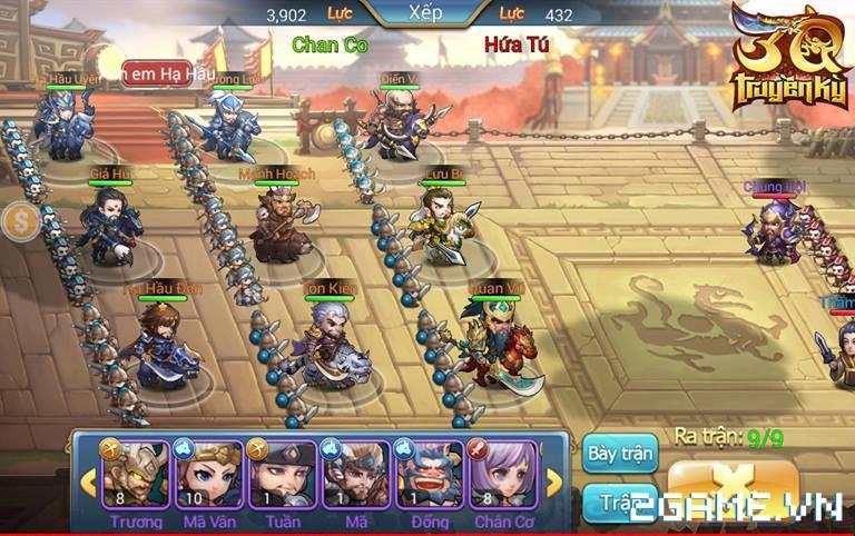 3Q Truyền Kỳ có thế mạnh nằm ở phần danh tướng và mô thức chiến đấu 2