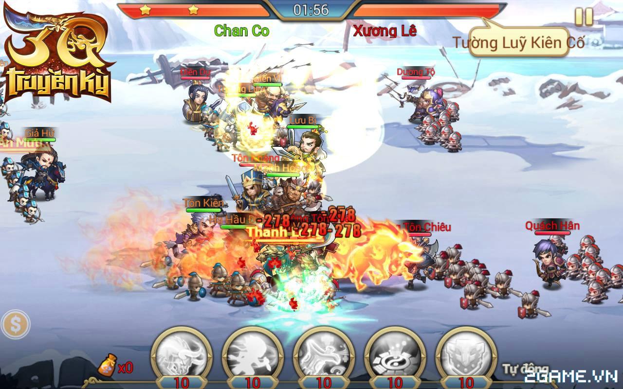 3Q Truyền Kỳ có thế mạnh nằm ở phần danh tướng và mô thức chiến đấu 5