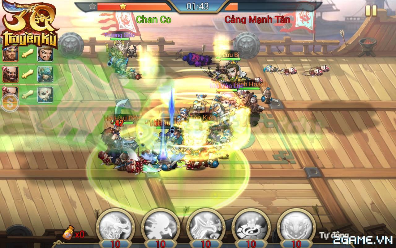 3Q Truyền Kỳ có thế mạnh nằm ở phần danh tướng và mô thức chiến đấu 6