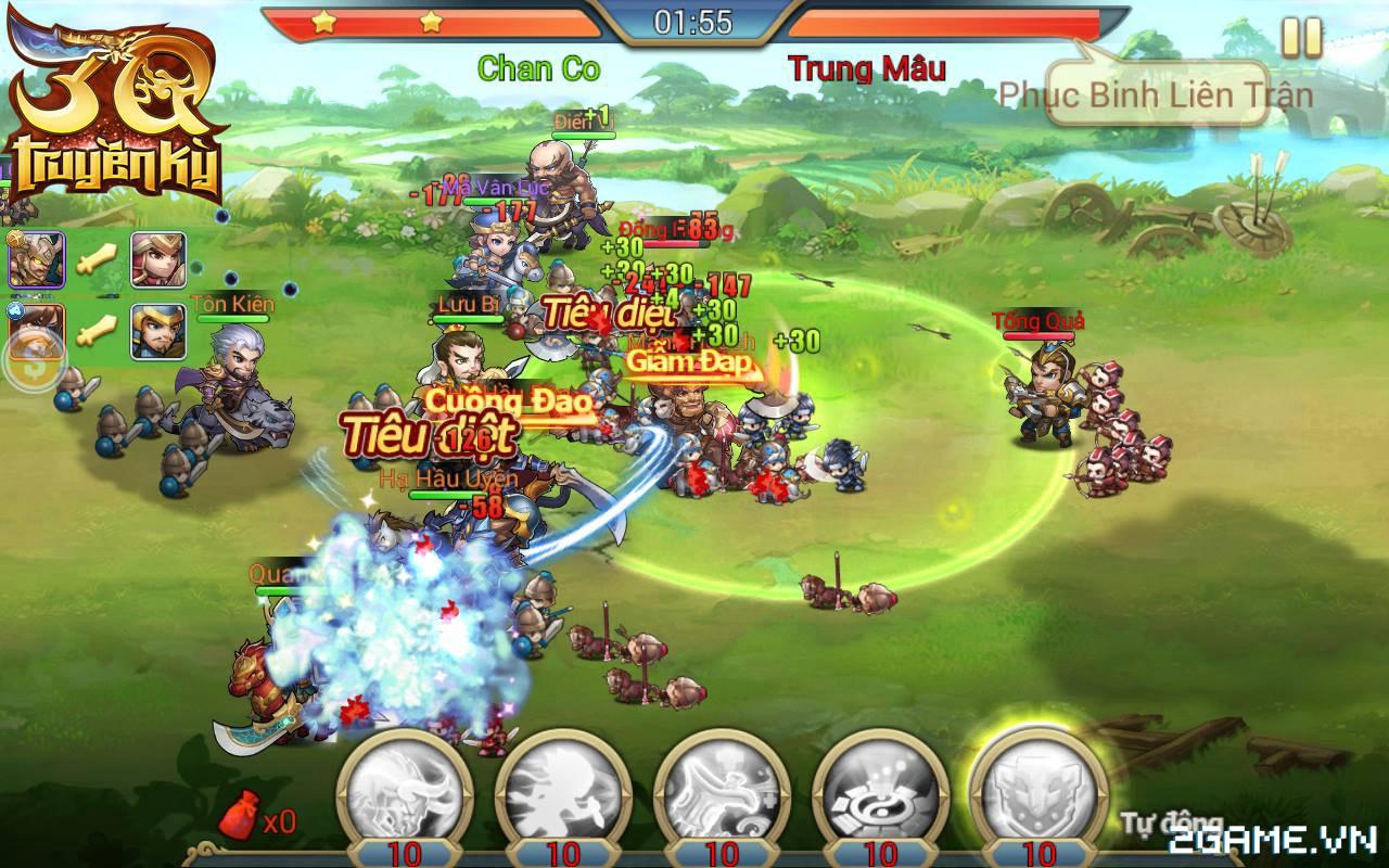 3Q Truyền Kỳ có thế mạnh nằm ở phần danh tướng và mô thức chiến đấu 7