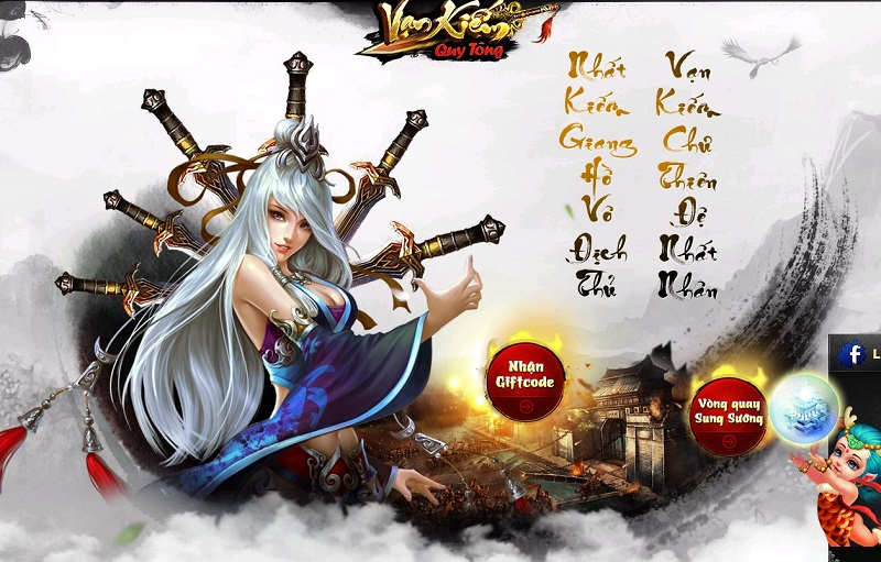 Vạn Kiếm Quy Tông ra mắt trang chủ, định ngày mở game 0