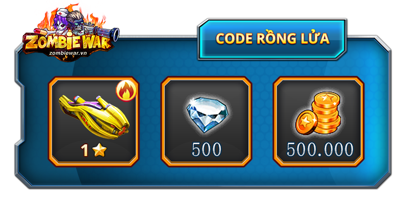 Tặng 300 giftcode Zombie War 0