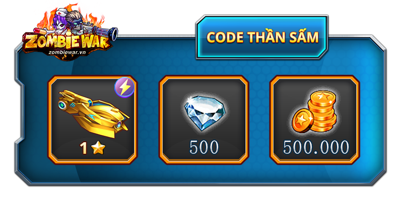 Tặng 300 giftcode Zombie War 1