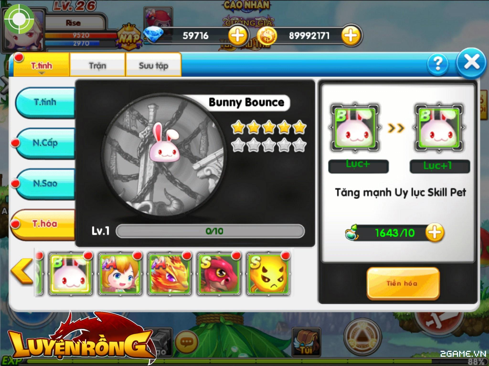 Tìm hiểu hệ thống pet trong Luyện Rồng mobile 1