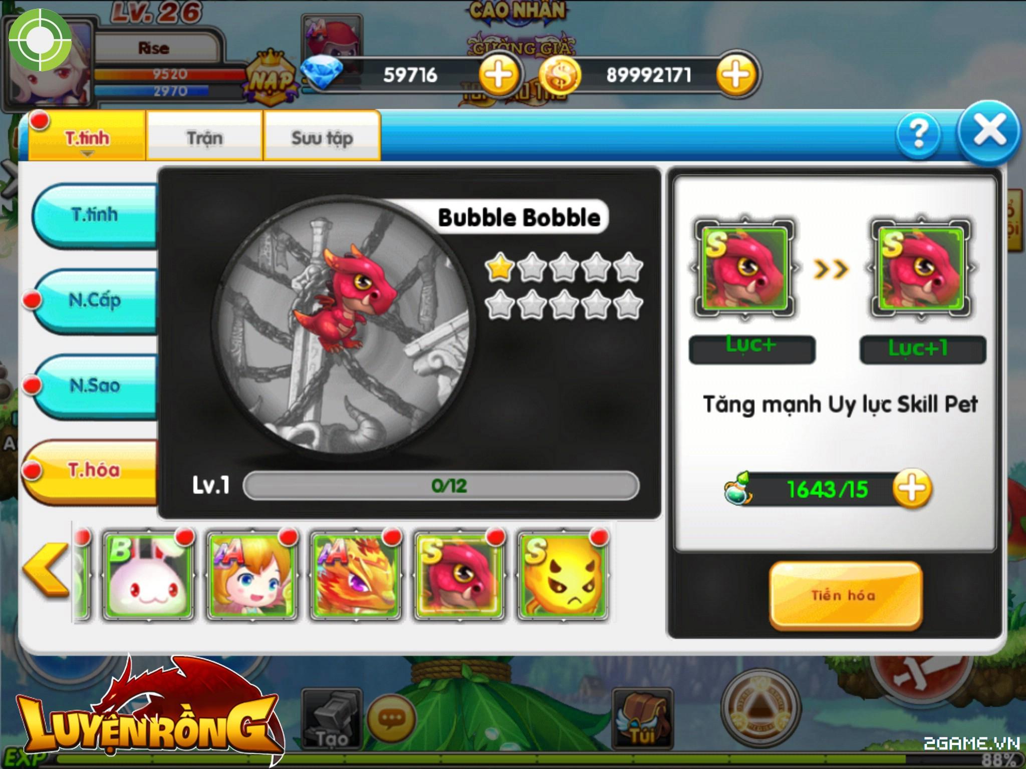 Tìm hiểu hệ thống pet trong Luyện Rồng mobile 2
