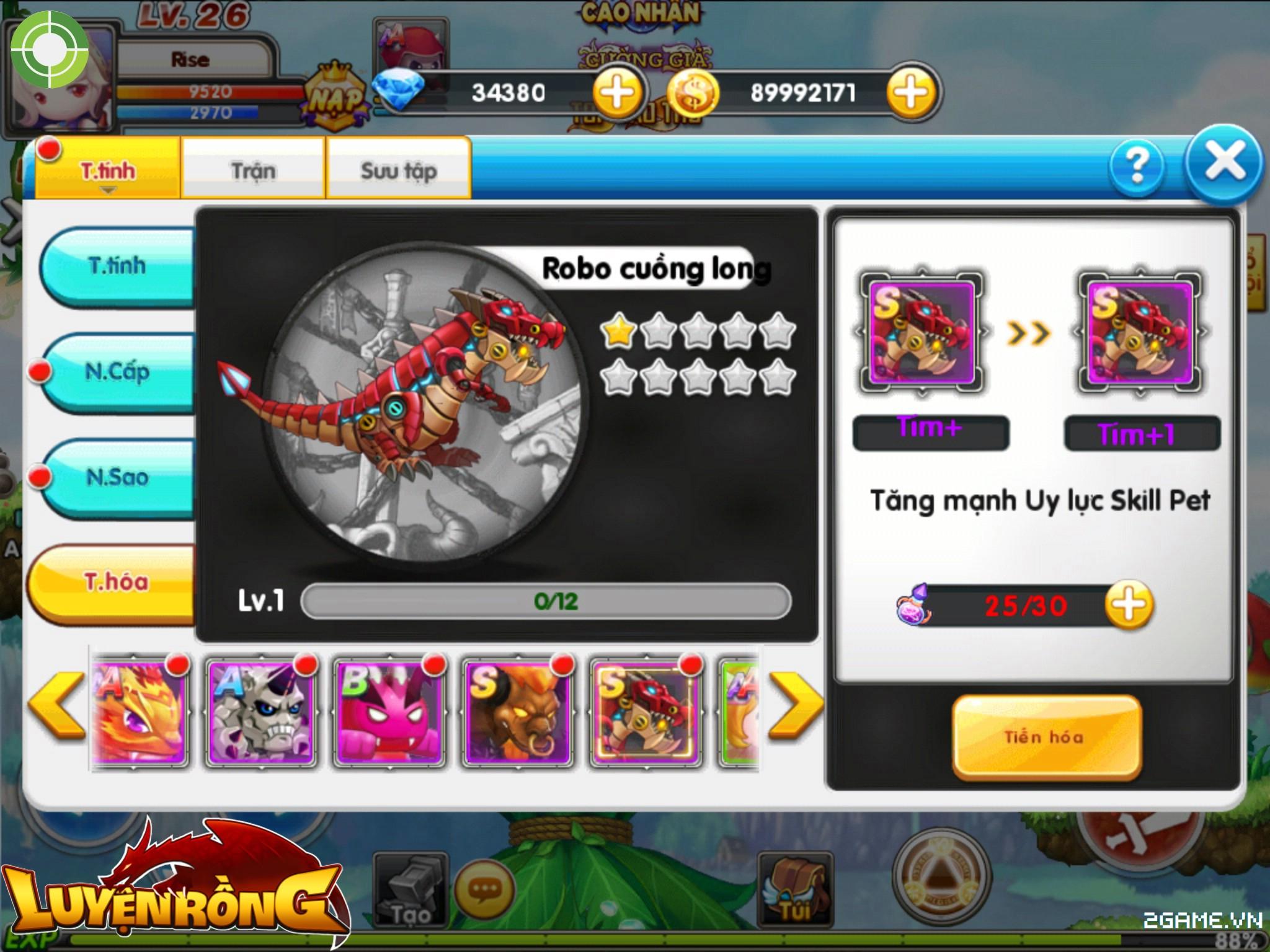 Tìm hiểu hệ thống pet trong Luyện Rồng mobile 3