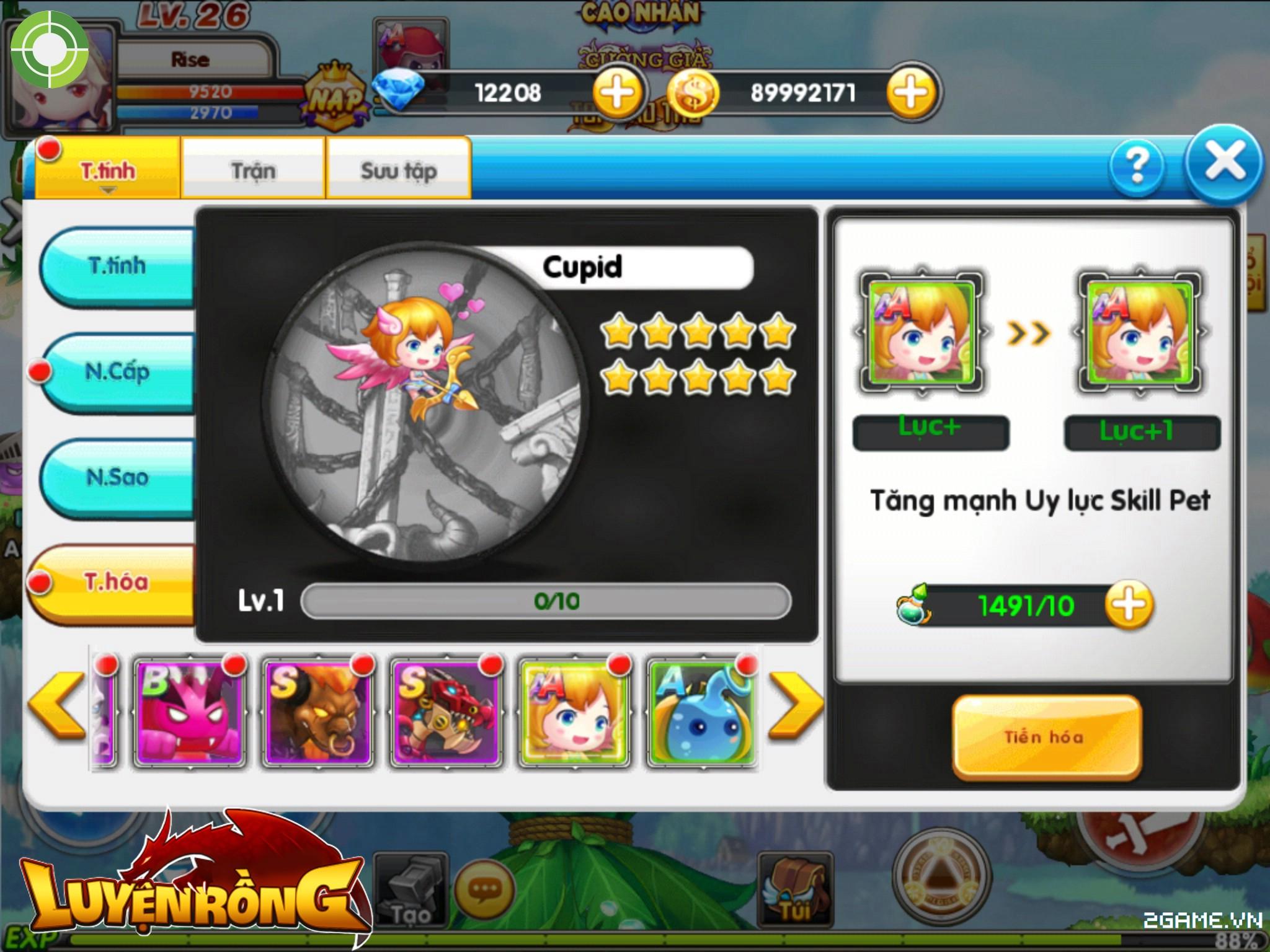 Tìm hiểu hệ thống pet trong Luyện Rồng mobile 4