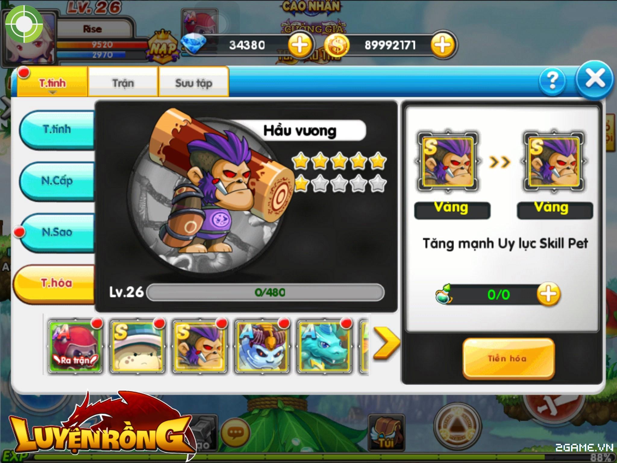 Tìm hiểu hệ thống pet trong Luyện Rồng mobile 5