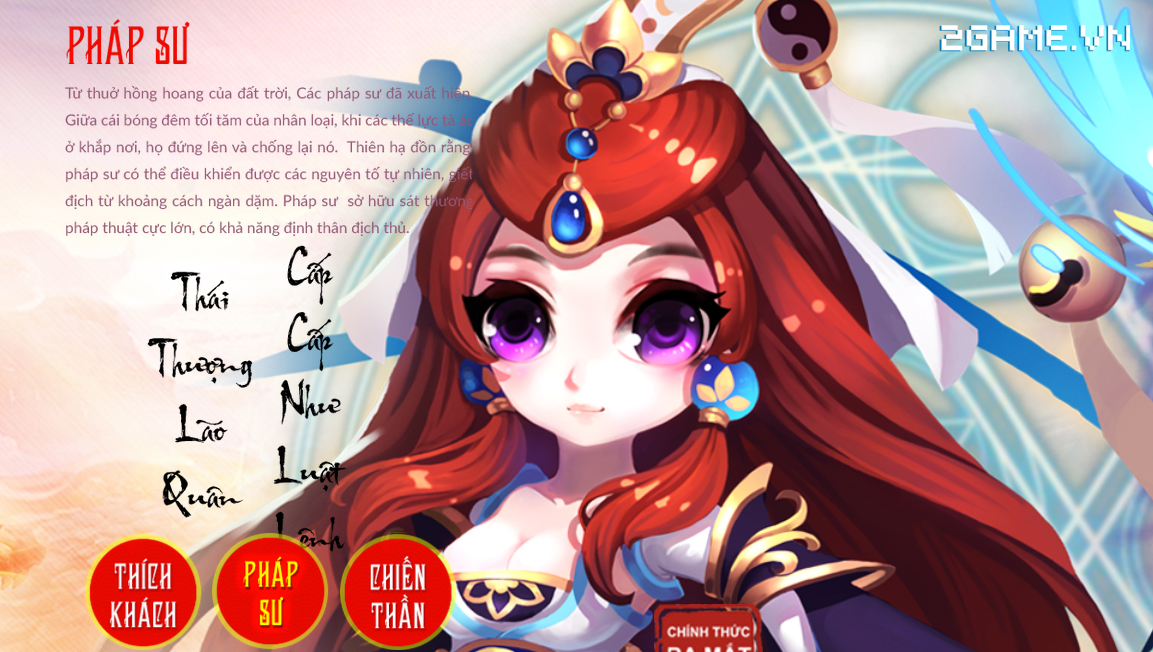 Tìm hiểu về 3 lớp nhân vật game Đại Thánh Vương 1