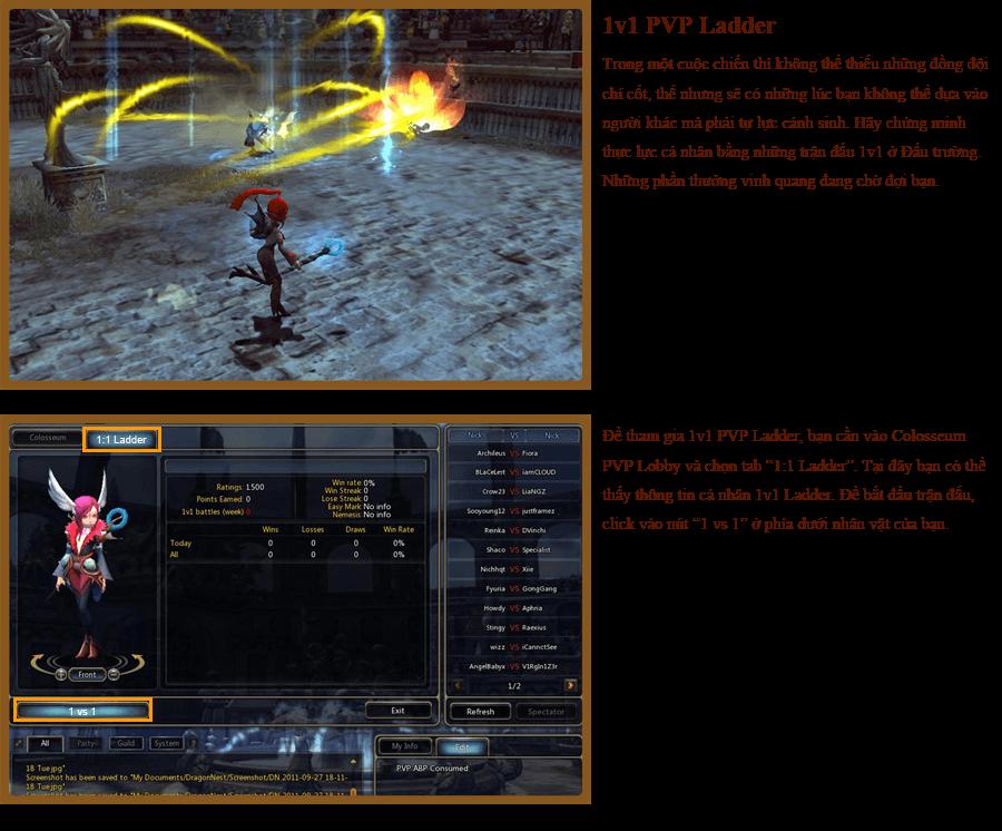 Các hoạt động PvP trong Dragon Nest 9