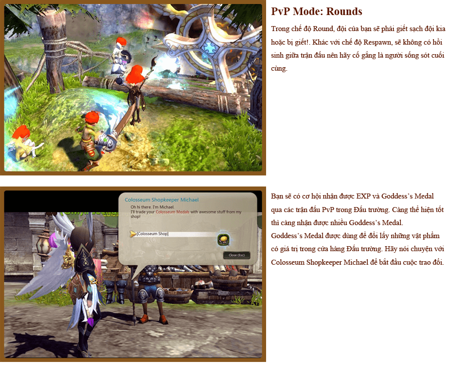 Các hoạt động PvP trong Dragon Nest 4