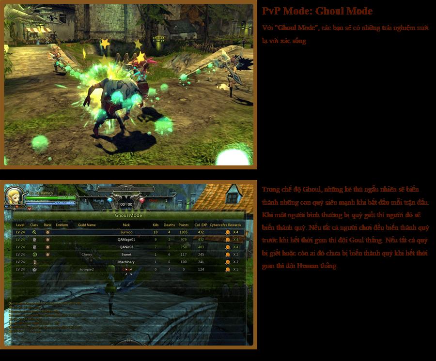 Các hoạt động PvP trong Dragon Nest 6